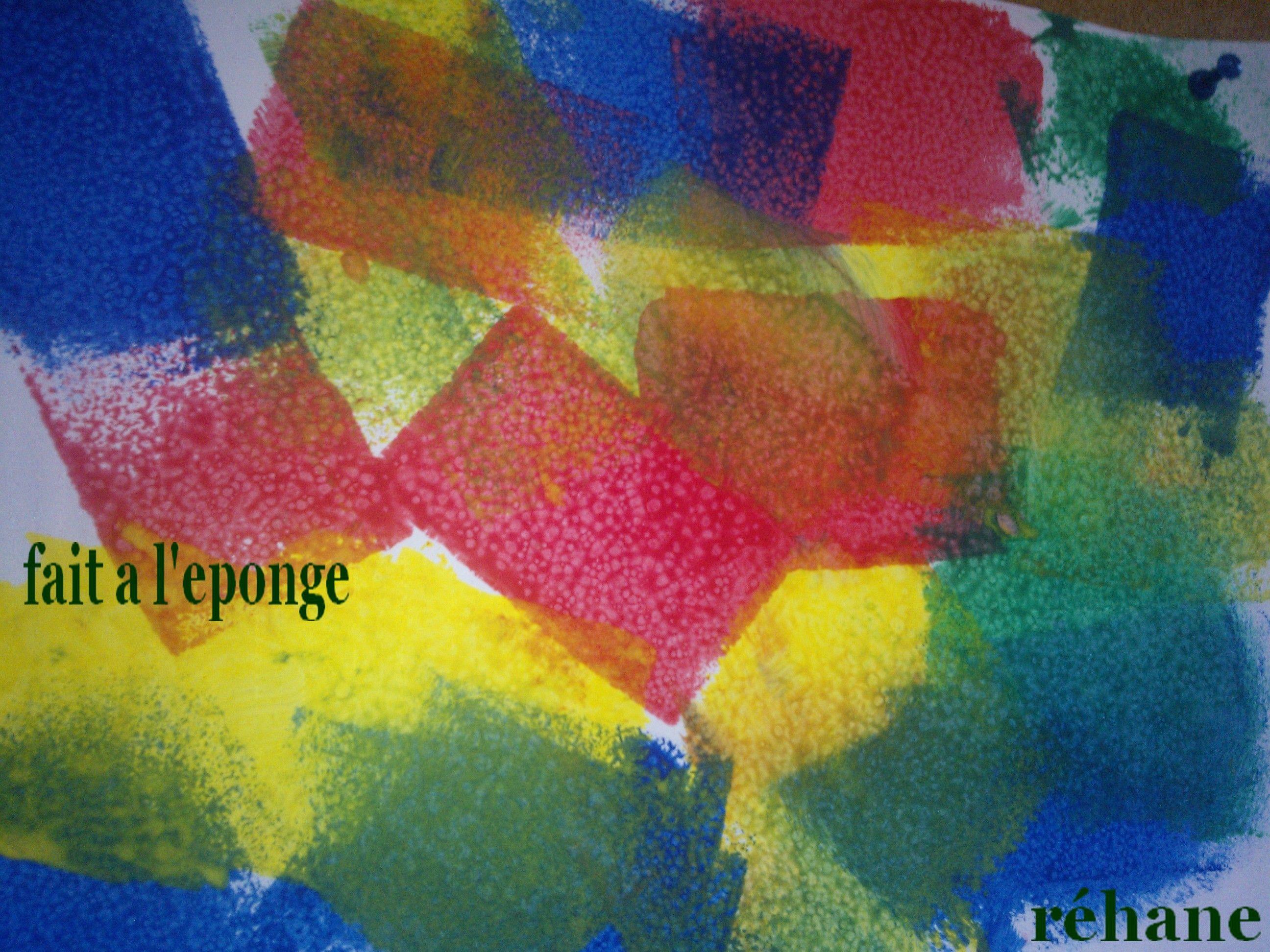 Peinture a l 39 ponge for Peindre a l eponge